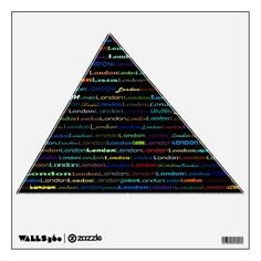 London Text Design I Wall Decal Acute Triangle