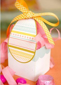Free Easter Egg Basket Printable