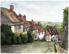 """Gold Hill"" Shaftesbury Dorset, England"