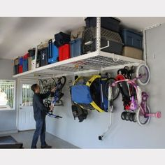 The premier overhead storage rack with a lifetime warranty! These racks keep your garage organized and neat. 4X8- 2 rack package$599.00http://www.saferacks.com/buy-direct/overhead-garage-racks/saferacks-4x8-2-rack-package.html#