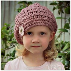 CROCHET PATTERN Mia Beret Sizes Baby to Adult by hollanddesigns