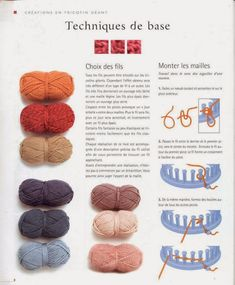 Album sous forme d& Spool Knitting, Knitting Needles, Crochet Hooks, Knit Crochet, Loom Knit, Album, Base, Diy And Crafts, Creations