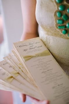 Ashley Gain Weddings Paper Details Stationary Calligraphy Program Ceremony Program Church
