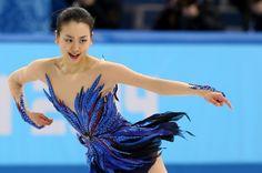 女子フリーで力強い演技をする浅田真央=ロシア・ソチのアイスベルク・パレスで2014年2月20 (620×410) http://sportsspecial.mainichi.jp/graph/2014sochi/figureLadies/001.html