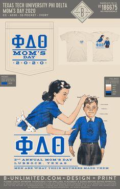 Phi Delta Theta Mom's Day Shirt | Fraternity Event | Greek Event #phideltatheta #phidelt Phi Delta Theta, Texas Man, Texas Tech University, Dad Day, Fraternity, Greek, Dads, Mom, Shirts