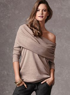 Multi-way Tunic Sweater A Kiss of Cashmere