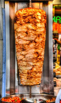 Doner Kebab in Taksim Square Istanbul Turkey