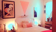 Vaporwave Room: The Deco bedroom of Heather Hermann Retro Bedrooms, 1980s Bedroom, Bedroom Art, Trendy Bedroom, 80s Interior Design, Living Vintage, Retro Home Decor, Dream Rooms, Cool Rooms
