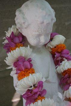Our Indian wedding garland