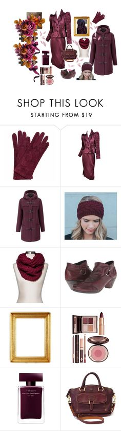 """""""Burgundy Beauty"""" by lawvel ❤ liked on Polyvore featuring La Portegna, Tom Ford, Gloverall, Mossimo Supply Co., Rieker, Charlotte Tilbury, Narciso Rodriguez and Dooney & Bourke"""