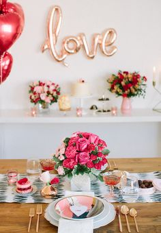 Valentine's Day dinner at home with Teleflora - 100 Layer Cake