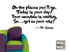 Dr Seuss Oh the Places You'll Go  Vinyl Wall by walltowalldecals, $8.99