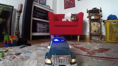 Tonka Police Truck Flashing lights and sounds! TOY CARS Action!