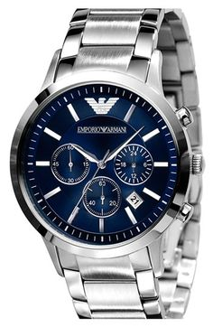 Emporio Armani watch with navy face