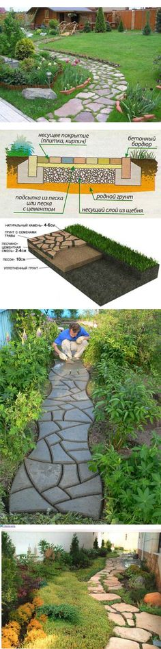 Садовая дорожка - варианты оформления и дизайн сада.