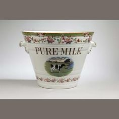 A milk pail, by Dairy Outfit Ltd. of Kings Cross, London early Century Sold for inc. Milk Pail, Keep Calm Carry On, Planter Pots, Dairy, Auction, Pure Products, Fine Art, Mugs, Antiques