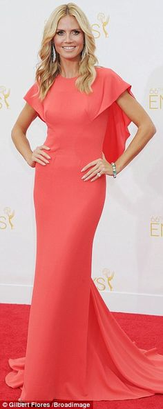 Heidi Klum in Zac Posen at the 2014 Emmys http://dailym.ai/1lufdYb