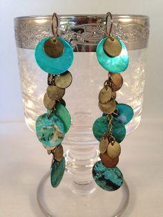 Turquoise Shell Earrings