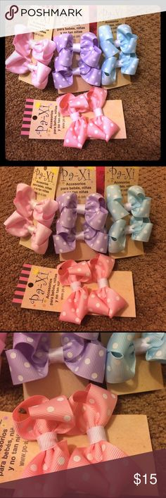 💐Easter Bow Set 8 bow clips (4 pairs) in beautiful pastel colors. Clip is easy to use and hold hair well while keeping the little ones comfortable! Also can be used for adults! If interested in customizing a bundle, please comment and I am happy to work with you 😊. Paxi Accessories Hair Accessories