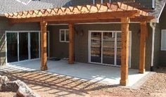 pergola, exactly what we want to do on our back patio Small Pergola, Deck With Pergola, Pergola Patio, Pergola Kits, Pergola Ideas, Patio Ideas, Bbq Gazebo, Big Deck, Backyard Pavilion