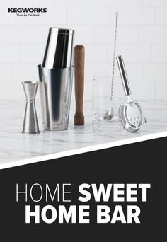 Shop the largest selection of premium barware and delicious mixers to stock your ultimate bar. Home Bar Rooms, Cream Sauce Recipes, Bar Tools, Bar Accessories, Mixers, Garlic Press, Bar Signs, Bar Ideas, Bars For Home