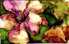 Magnolia in Secondaries  print of original alcohol by ArtWithSarah