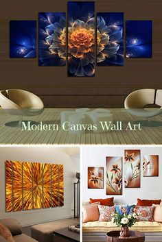 Modern Canvas Wall Art Sophisticated, Trendy and Modern Canvas Wall Art  Elevate and transform your home into the paradise of your dreams with funky, cool and modern canvas wall art.  You will appreciate how bold bright colors along with beautiful flowers