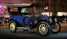 """1912 Cadillac Touring: Before Charles Kettering and team invented the electric starter, getting your car running was a dangerous business; doctors called a certain kind of broken wrist the """"Ford fracture"""" due to the Model T's crank. The 1912 Cadillac featured the first electric start, a feature that became standard quickly."""