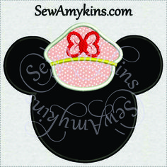 SewAmykins - Minnie Mouse cruise applique ship captain hat 3 sizes , $4.00 (http://www.sewamykins.com/minnie-mouse-cruise-applique-ship-captain-hat-3-sizes/)