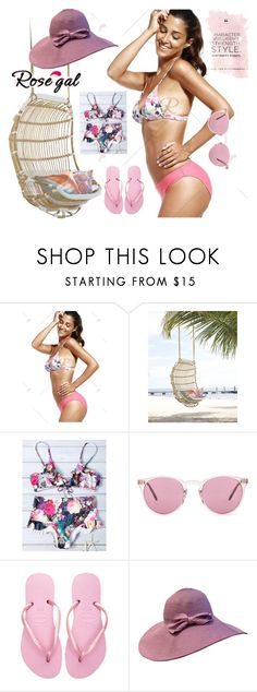 """""""ROSEGAL CONTEST"""" by jasminka-m ❤ liked on Polyvore featuring Oliver Peoples and Havaianas"""