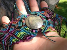 Handwoven hippiechic colorful obsidian by creationsmariposa, $67.00