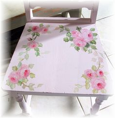hand painted Pink chair roses | Kimberly Ryan | Flickr