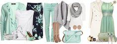 Сочетание холодного зеленого цвета в одежде Это тона ментола, кели и изумрудный. К ментоловым оттенкам подойдут белые, светло-серые, бежевые, бледно-желтые, сиреневые, кораллово-розовые цвета. Этот же цвет может образовывать яркие пары с оранжевым, красным, темно-синим. Более насыщенный оттенок холодной зелени будет цвет кели –насыщенный, холодный зеленый цвет. Он сочетается с коралловым, персиковым, синим, бежевым, теплым и холодным коричневым. Оттенки патины и изумрудные цвета сочетаются в…