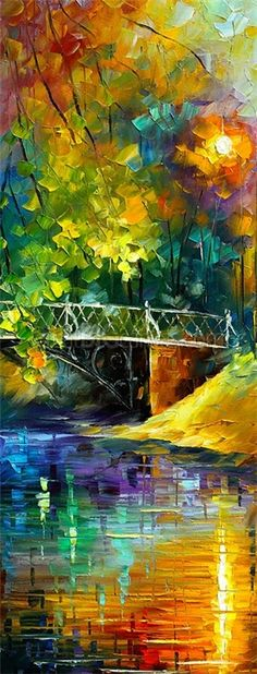 'Aura of Autumn III' by Leonid Afremov - His amazing artwork takes my breath away!