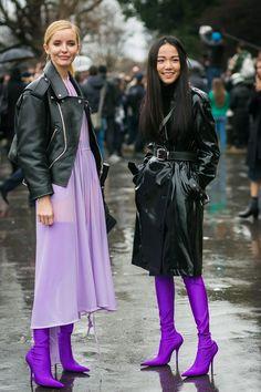 mor sokak modası,sokak modası, street style, purple