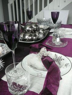 Purple #Christmas #Tablescapes #Entertaining