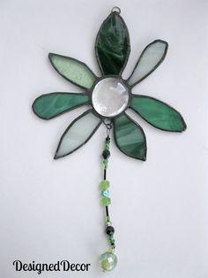 stained glass green suncatcher
