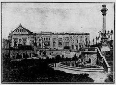 Teatro São José visto da esplanada do Teatro Municipal de São Paulo, 1916.