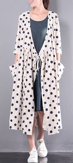 : cardigans stylish dresses outwear sleeve white linen size 2017 long plus new max 2017 new white stylish linen dresses plus size outwear long sleeve cardigans max. 2017 new white stylish linen dresses plus size outwear long sleeve card Maxi Cardigan, Dress With Cardigan, Dress Plus Size, Plus Size Outfits, Japan Fashion, Fashion 2018, Style Fashion, Curvy Fashion, Sewing Projects