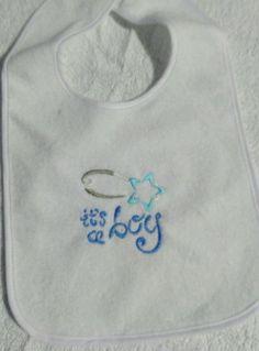 baby bib, its a boy,feeding bib by ThreadFromTheHeart on Etsy