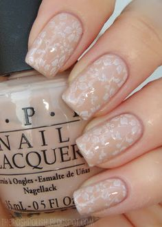 The Posh Polish: Neutral Floral Stamping