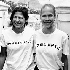 Mercia Abrahams and Liesl Abrahams wear DEURMEKAAR and MOEILIKHEID. To place your order visit www.mevrouandco.com
