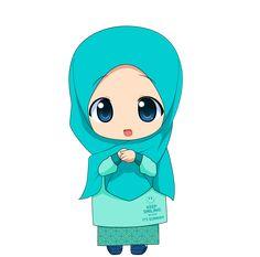 Chibi Muslimah 2 by on DeviantArt Cartoon Kids, Cartoon Images, Girl Cartoon, Cartoon Drawings, Cute Cartoon, Cartoon Art, Anime Chibi, Memes Download, Dossier Photo