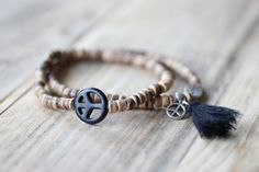 Armband hout & zwart