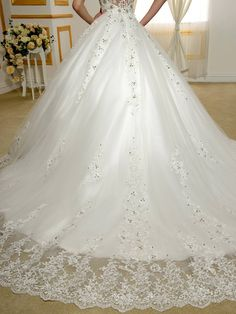 Sisjuly Womens Straps Beaded Lace Appliques Ball Gown Wedding Dress 12 White    You can get additional details at the image link-affiliate link. 84c6bfe5c975