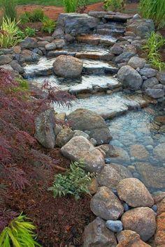 Rock Stream Shared by www.nwquiltingexpo.com @nwqe #nwqe #gardening #outdoors