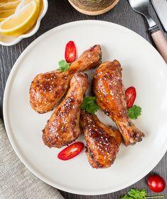 Запеченные куриные ножки с острым перцем