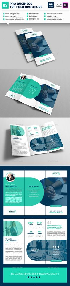 Pro Business Tri-Fold Brochure by akilmazumder Layout Template, Brochure Template, Company Profile Design Templates, Brochure Design, Layout Design, Graphic Design, Tri Fold, Brochures, Business