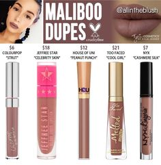 Kylie cosmetics liquid lipstick dupes in the shade Maliboo // Kayy Dubb ♡