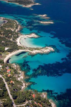Halkidiki, Greece    So beautiful! Hmm, maybe another choice for honeymoon destination...